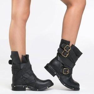 Jeffrey Campbell Black Brit Moto Boots